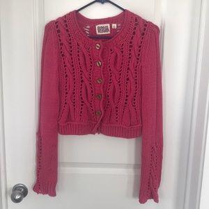 Anthropologie cardigan knit sweater